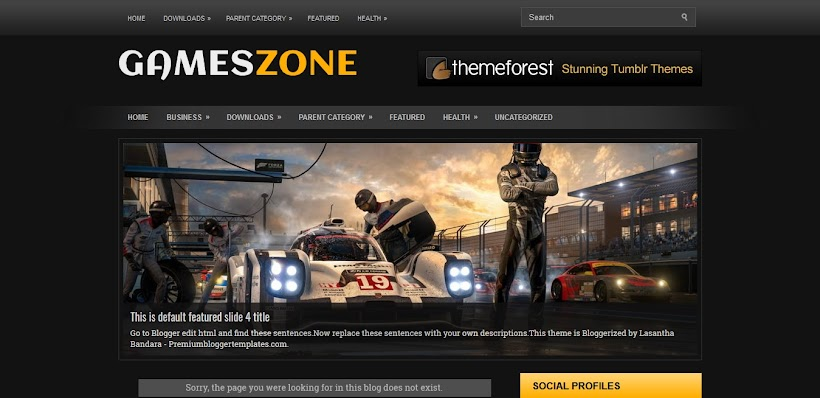 GamesZone Free Blogger Template