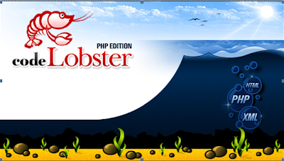 image of lobster in a sea with text of Codelobster PHP Edition
