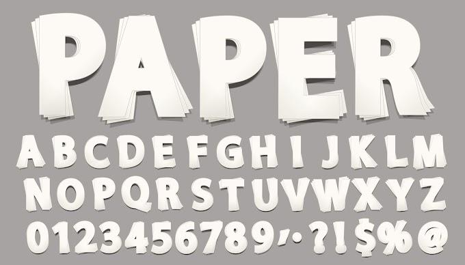 Paper Font vector