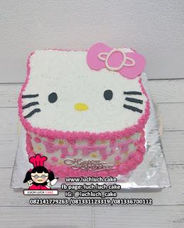 Kue Tart Kepala Hello Kitty Lucu