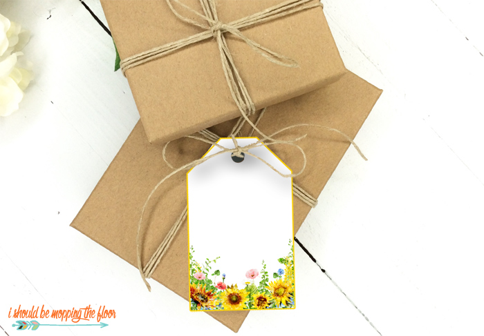 Printable Sunflower Gift Tags