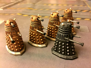 An invastion of daleks, lead by a patrol leader, in Doctor Who: Exterminate!