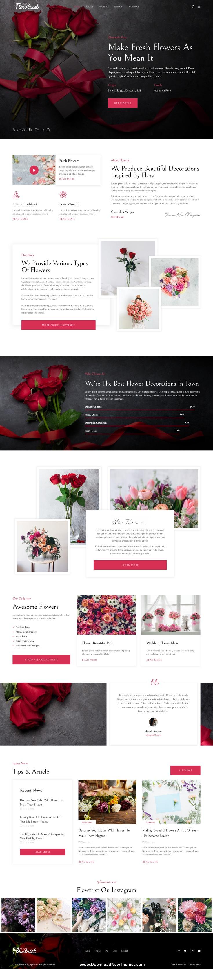 Flower Boutique & Florist Elementor Template Kit