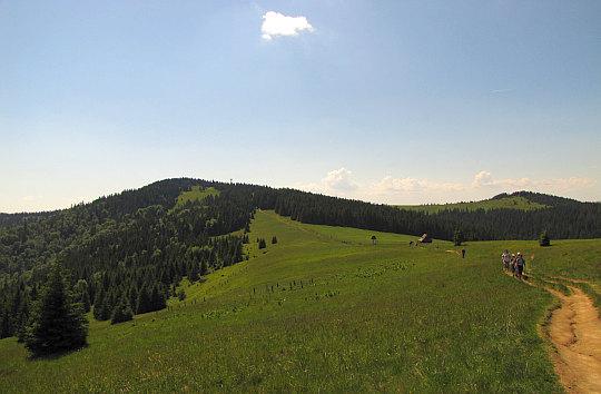 Turbacz (z lewej) i Czoło Turbacza (z prawej) widziane z Hali Długiej.