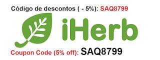 iherb i herb brasil importação código descontos coupon code vitaminas suplementos