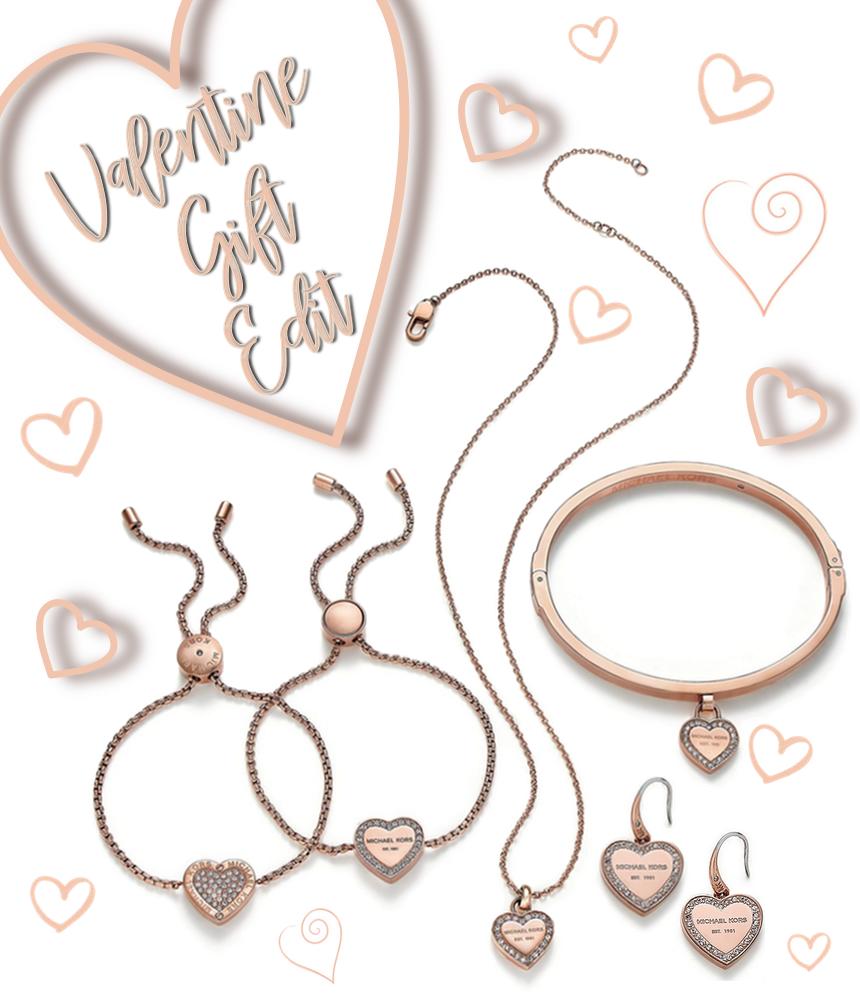 Michael Kors Crystal Heart Logo Jewelry