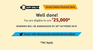 Amazon Great Indian Festival Sale Quiz Answers