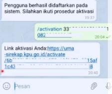 Cara Aktivasi Sirekap Menggunakan Telegram Ternyata Mudah