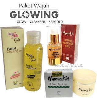 paket glowing nasa sergold glow collaskin facial cleanser