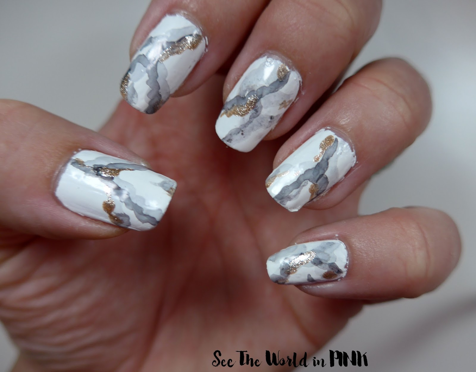 Manicure Tuesday - Stone Marble Nail Art! | See the World in PINK