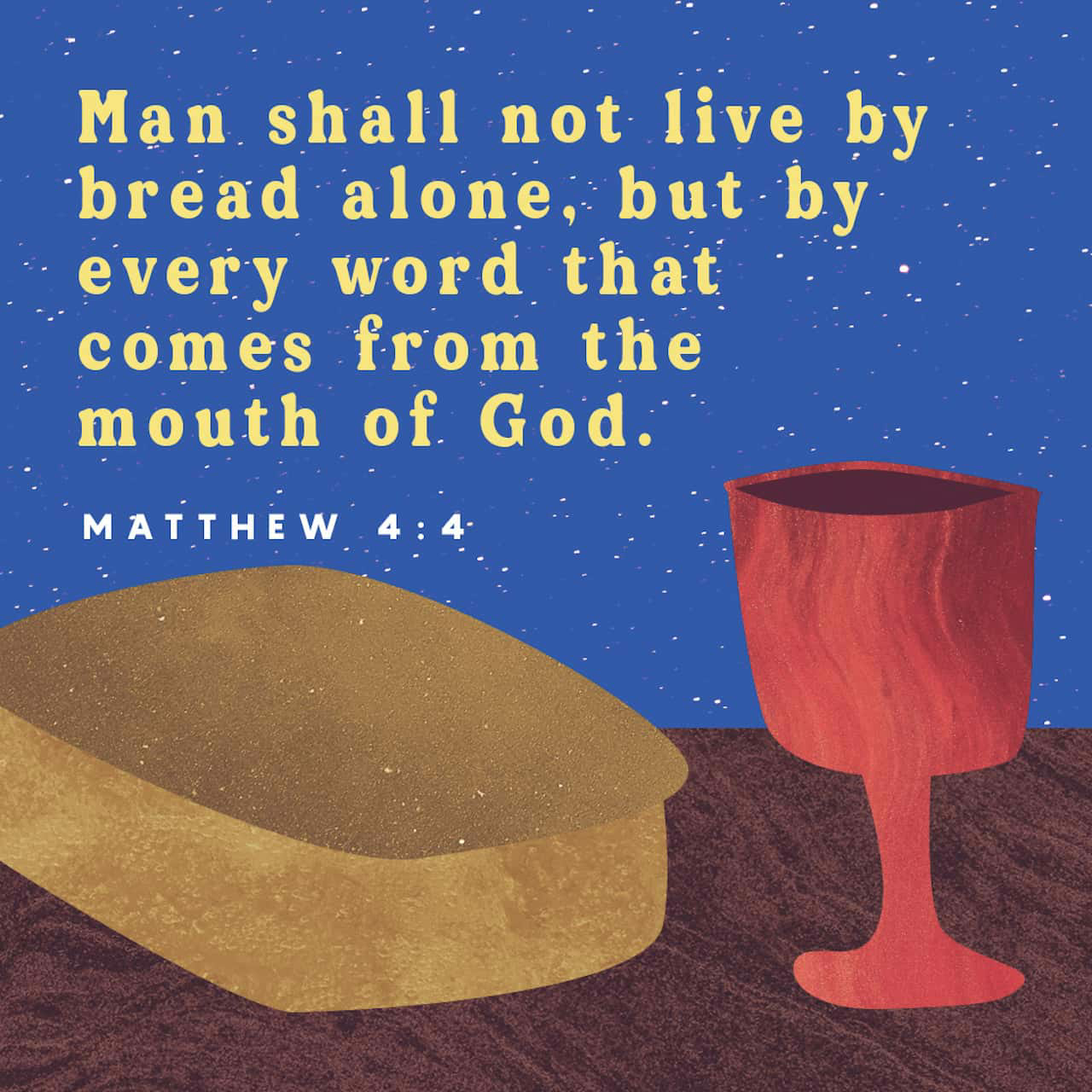 Verse of the day- Matthew 4:4