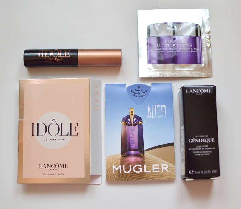 Lancome Genfique serum, Idole perfume and mascara