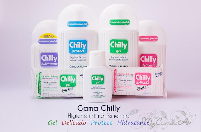 Gama Chilly para la higiene íntima femenina.