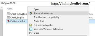 aktivasi windows 10 menggunakan KMS Pico