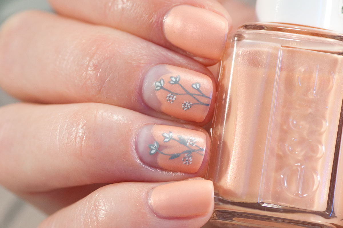 Essie Pinkies Out Floral Nail Art