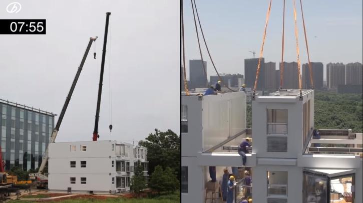 En China construyen edificio de 10 pisos en 28 horas