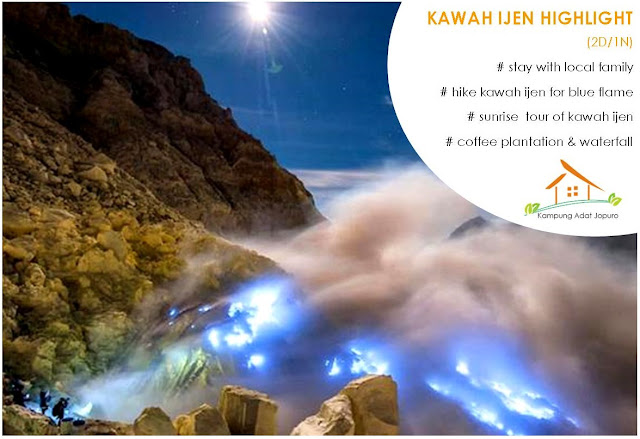 Kawah Ijen By Night - Blue Flame Tour