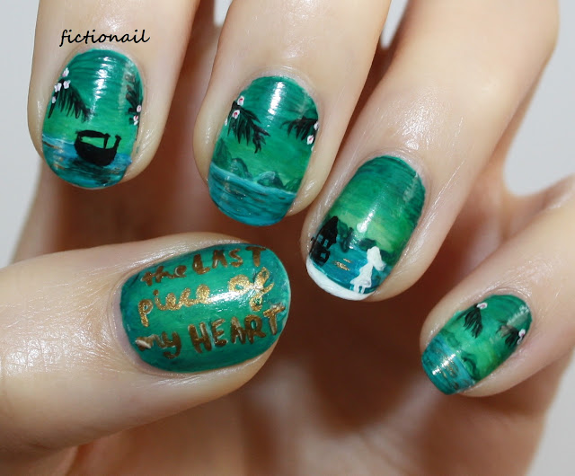 The Last Piece Of My Heart Book Cover Nail Art Paige Toon