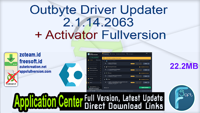 Outbyte Driver Updater 2.1.14.2063 + Activator Fullversion