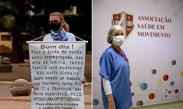 Inspirada por sinal de Deus em oração, enfermeira vai a semáforo e consegue emprego