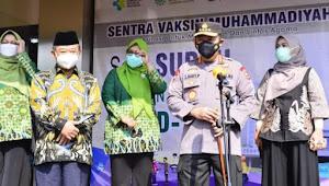Kerjasama Vaksinasi Muhammadiyah-Polri, Kapolri Optimis Raih Herd Immunity