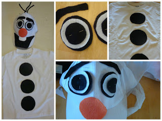 How to make an olaf the snowman halloween costume homemade