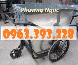 Xe gom rác tôn 500 Lít, xe thu gom rác thải công cộng Img-0581