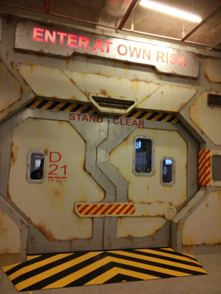 Space-ship themed entrance to District 21 Theme Park @ IOI City Mall