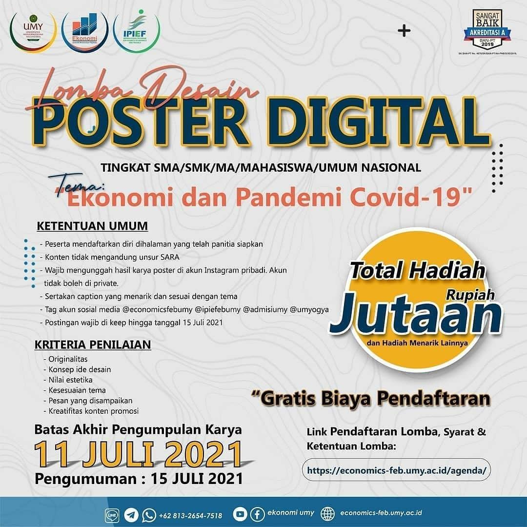 Lomba Desain Poster Digital Berhadiah Total Jutaan Rupiah Bersama Universitas Muhammadiyah Yogyakarta
