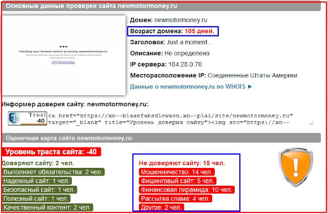 Newmotormoney.ru, newmotormoney.org - Отзывы о сайте, развод, лохотрон?