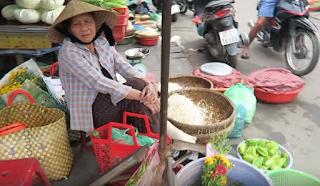 Conical Hat wear by old Women in Vietnam