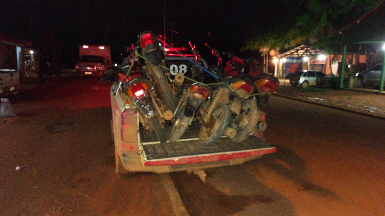 Parauapebas: Polícia militar recupera mais quatro motos roubadas.