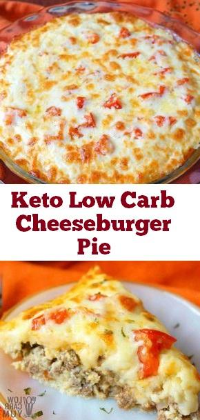 Keto Low Carb Cheeseburger Pie #keto #lowcarb #cheeseburger #pie