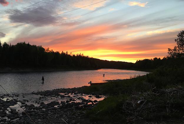 Magic hour on the Bonaventure River