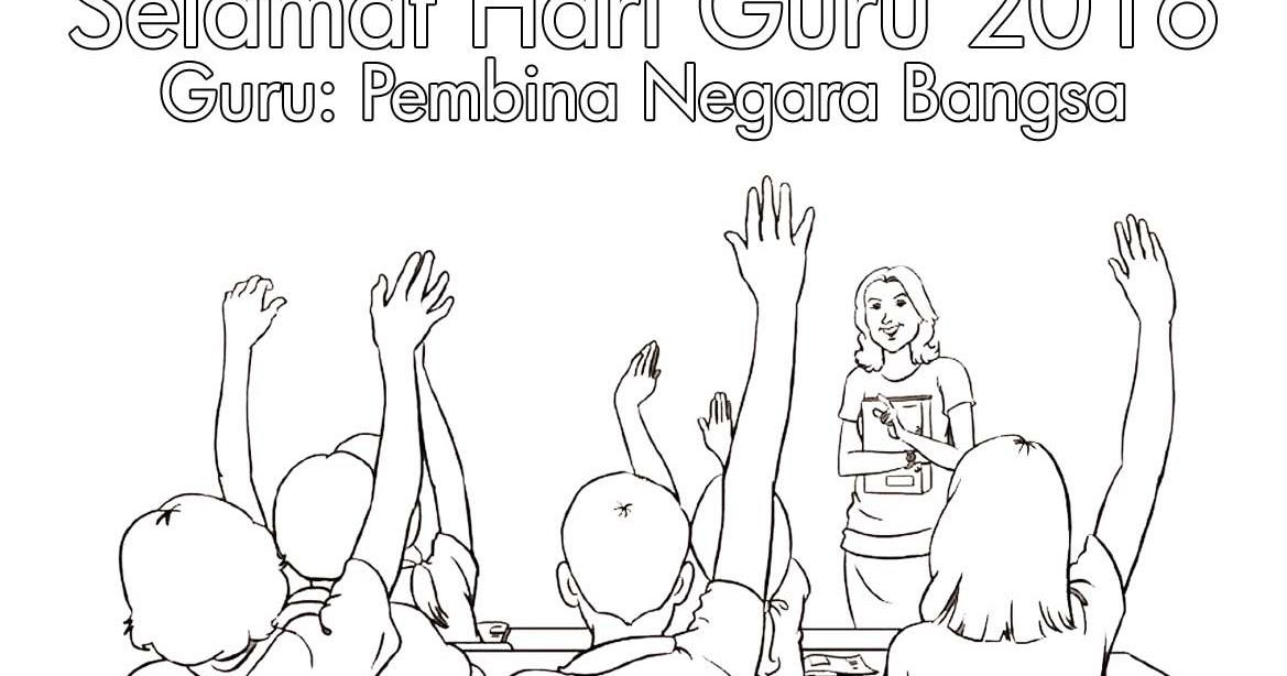 Gambar Mewarna Poster Hari Guru 2016 Gambar Mewarna Colouring