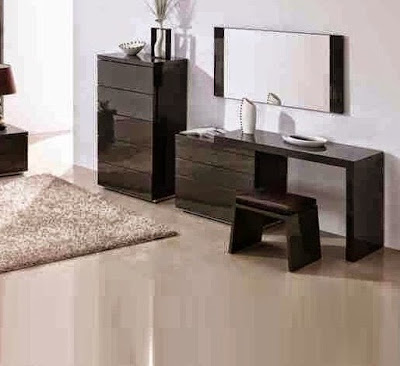 black modern dressing table designs for minimalist bedroom