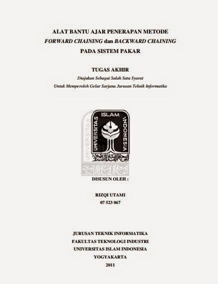 Skripsi Alat Bantu Ajar Penerapan Metode Forward Chaining Dan
