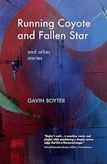 """Running Coyote and Fallen Star: and other stories by Gavin Boyter  """"We're trialing a neurological implant that links two consciousnesses together, allowing complete access to another person's thoughts, feelings and emotions."""" """"I see. And you think this is a good idea?"""" (Ride Along)"""