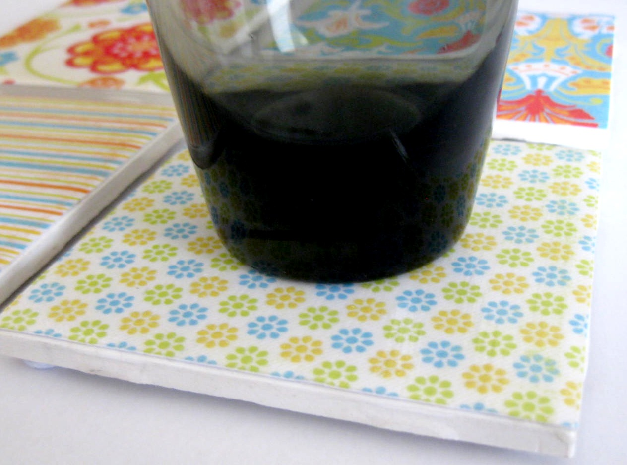 19eighty Expressions Mod Podge Tile Coasters