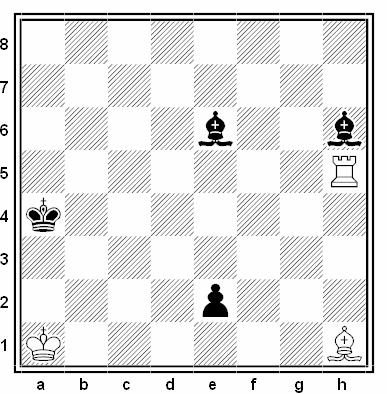Estudio artístico de E. Pogosjantz (1ª Mención de Honor, Chess Life & Review 1973)