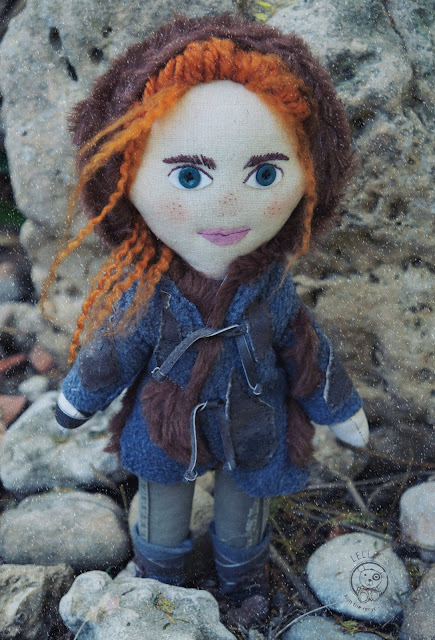 Ygritte the wildling art doll, inspired by Game of Thrones.
