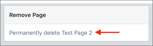 انقر على حذف الصفحة نهائيًا