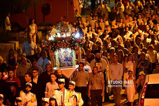 Η γιορτή της Κοιμήσεως της Θεοτόκου στο Αργολικό Ναυπλίου (βίντεο+drone)