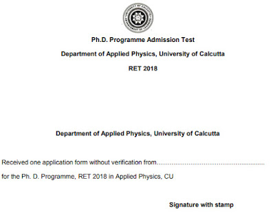 Calcutta University Phd Admission