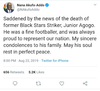 20190823_112539 List Of Celebrities Who have  paid Tribute To Junior Agogo So Far