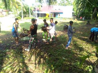 Tak Mau Kalah Dengan Yang Tua,Pemuda Air Kalam Pun Ikut Sukseskan TMMD/N Ke-103
