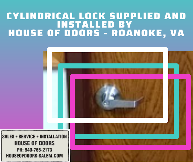 lever handle lock supplied and insatlled by house of doors roanoke va