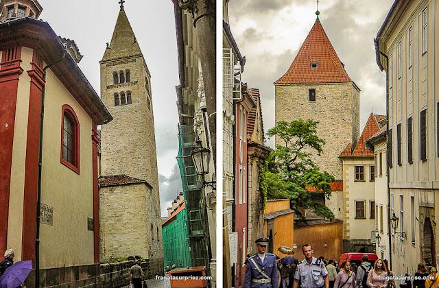 Ruas no interior do Castelo de Praga