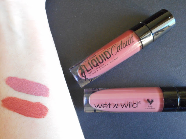 Wet n Wild - MegaLast Liquid Catsuit Matte Lipstick in Rebel Rose and Give Me Mocha