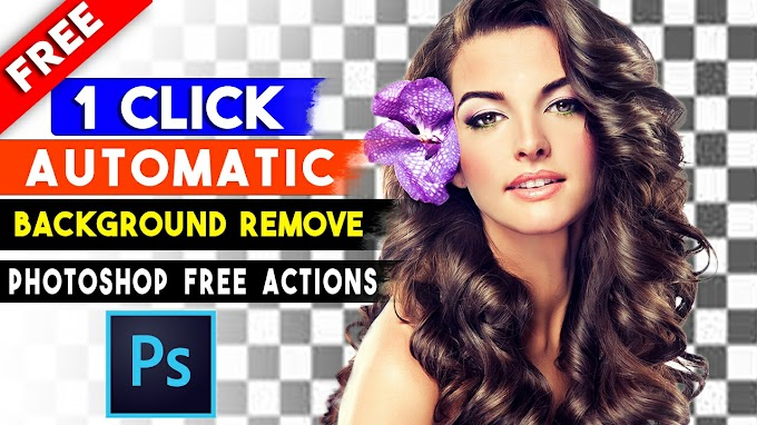 1 Click Automatic Background Remove Photoshop Actions by Shazim Creations